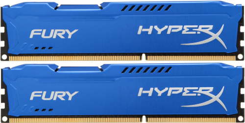 Память оперативная Kingston. Kingston 16GB 1600MHz DDR3 CL10 DIMM (Kit of 2) HyperX FURY Blue Series HX316C10FK2/16