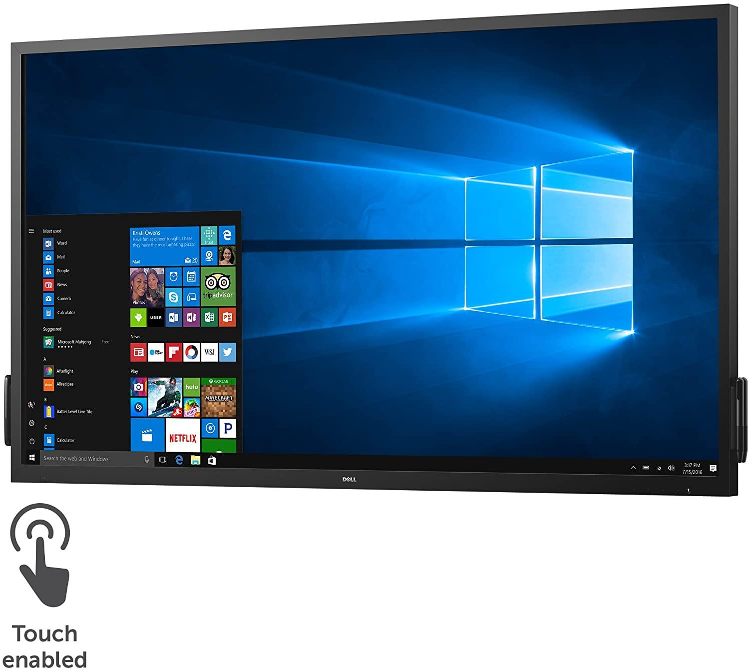 "Монитор DELL C7017T Dell. DELL C7017T, 69.5"",16:9, VA, 10 points multi touch, 1920x1080, 6ms, 400cd/m2, 4000:1, HDMIx2, VGA, DP, 2x10W Spk, 3xUSB, Black, 3 Y"